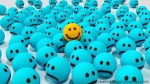 Negative Menschen ignorieren