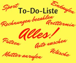Einen stressfreien Tag planen mit kleinerer To-Do-Liste